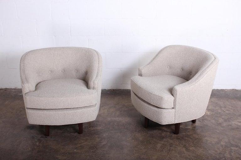 Pair of Dunbar Swivel Chairs by Edward Wormley 5