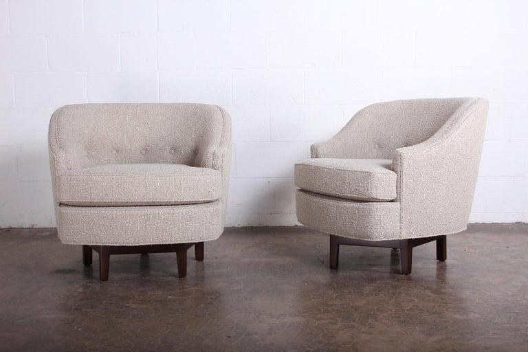 Pair of Dunbar Swivel Chairs by Edward Wormley 6