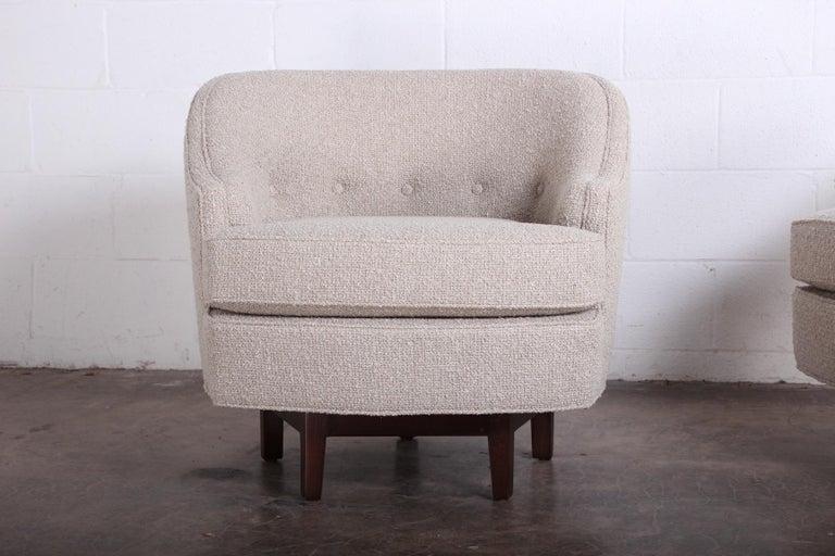 Pair of Dunbar Swivel Chairs by Edward Wormley 7