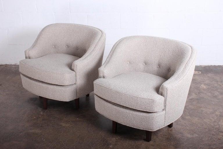 Pair of Dunbar Swivel Chairs by Edward Wormley 12