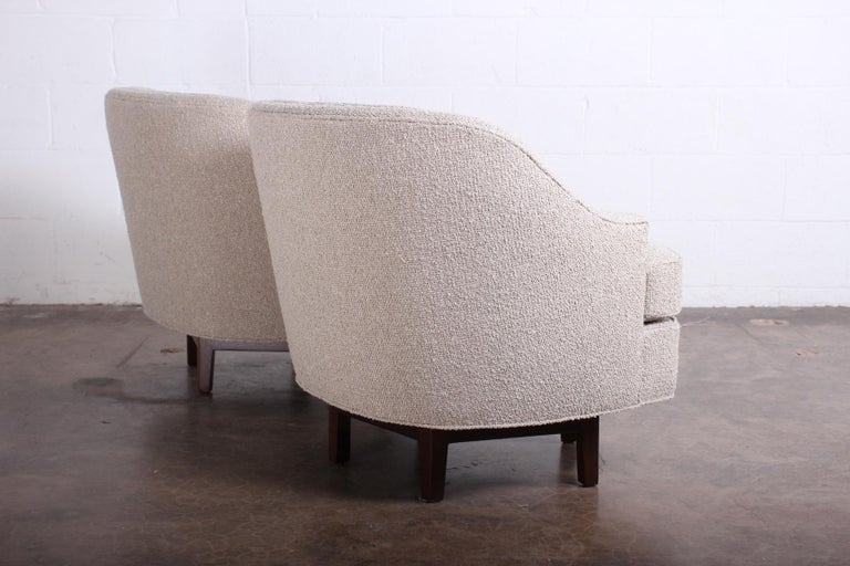 Pair of Dunbar Swivel Chairs by Edward Wormley 14