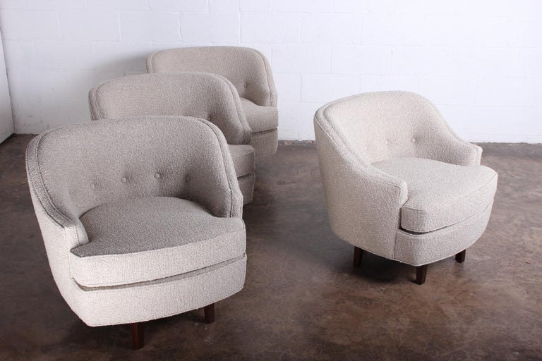 Pair of Dunbar Swivel Chairs by Edward Wormley In Good Condition In Dallas, TX