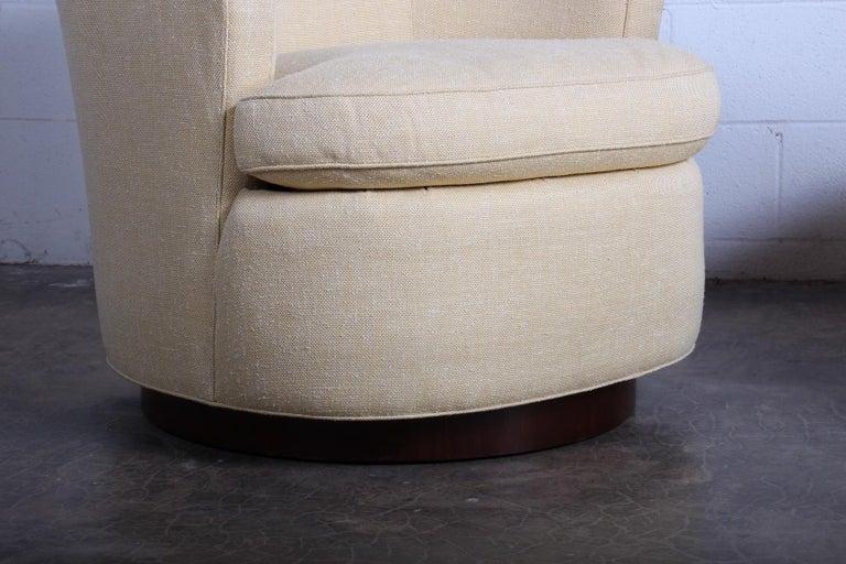 Pair of Dunbar Swivel Chairs by Edward Wormley 1
