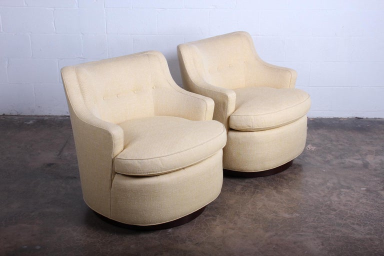 Pair of Dunbar Swivel Chairs by Edward Wormley 2