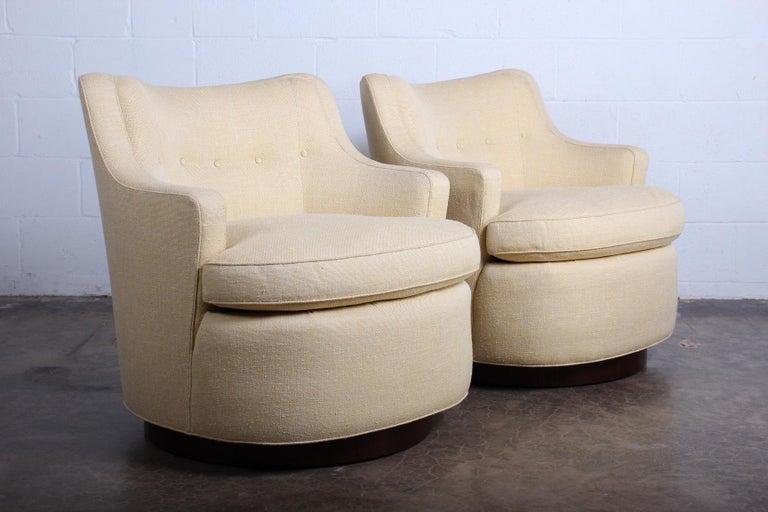 Pair of Dunbar Swivel Chairs by Edward Wormley 3