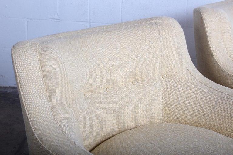 Pair of Dunbar Swivel Chairs by Edward Wormley 4
