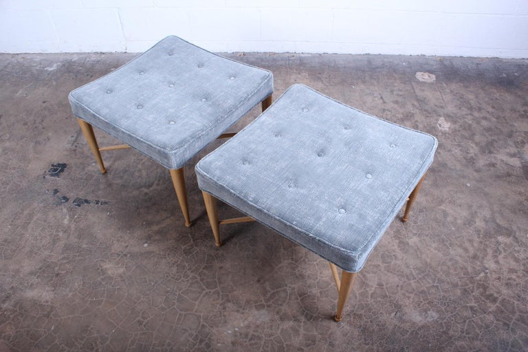 Pair of Dunbar Thebes Stools by Edward Wormley 6