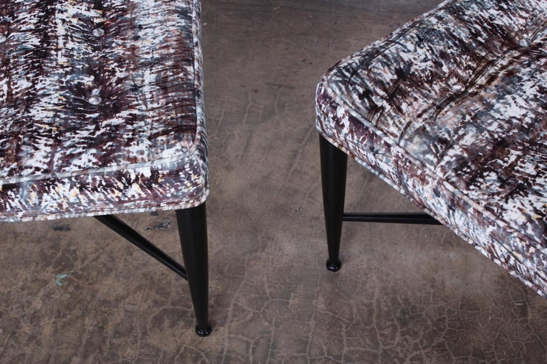 Pair of Dunbar Thebes Stools by Edward Wormley  For Sale 3