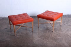 Pair of Dunbar Thebes Stools by Edward Wormley