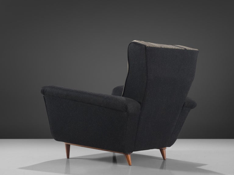 Mid-20th Century Pair of Dutch Black and White Armchairs, circa 1950 For Sale