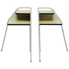 Pair of Dutch Modernist Industrial Nightstands, Holland, 1960