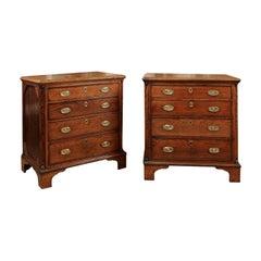 Pair of Dutch Oak 4-Drawer Commodes, circa 1790