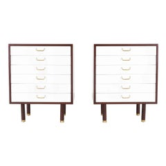 Pair of E. Gomme Two-Tone Lacquer Nightstands for G-Plan