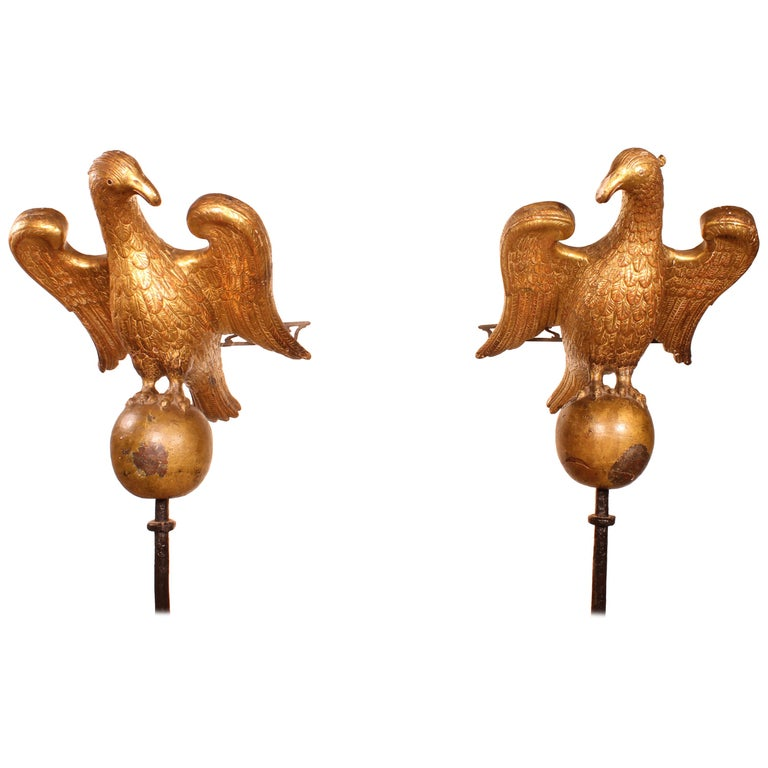 Pair of Eagles 16th Century from North Italy Church Lectern For Sale