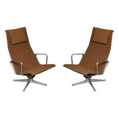 Pair of Eames Aluminum Group Chairs