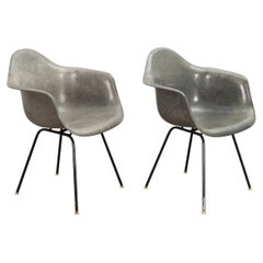 Pair of Eames Elephant Hide Armchairs