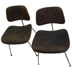 Pair of Eames for Evans DCM chairs
