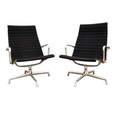 Pair of Eames for Herman Miller Aluminium Group Lounge Chairs