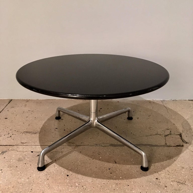 Mid-Century Modern Pair of Eames for Herman Miller Granite Side Tables For Sale