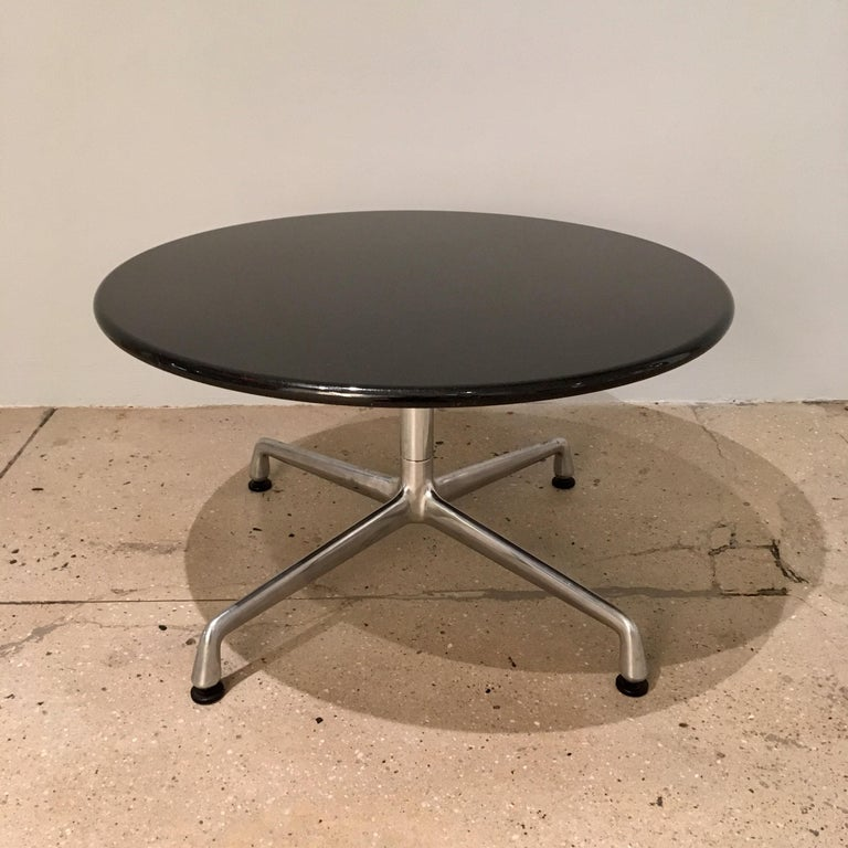 Mid-20th Century Pair of Eames for Herman Miller Granite Side Tables For Sale