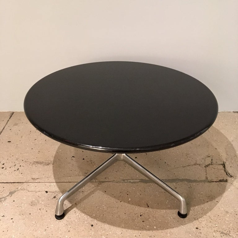 Aluminum Pair of Eames for Herman Miller Granite Side Tables For Sale
