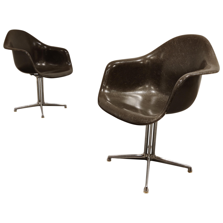 Pair of Eames for Herman Miller La Fonda Chairs, 1970s