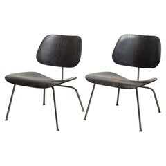 Pair of Eames for Herman Miller LCM Chairs in Black, circa 1950
