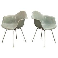 Pair of Eames Seafoam DAX Armchairs