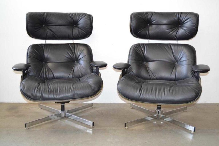 Superb Pair Of Eames Style Mid Century Modern Lounge Chairs With Uwap Interior Chair Design Uwaporg