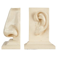 Pair of Ear & Nose Bookends by C2C Designs