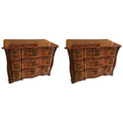 Pair of Early 18th Century Bavarian Walnut Chest of Drawers
