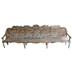 Exceptionally Large Pair of 17thC Early 18th Century Italian Baroque Benches