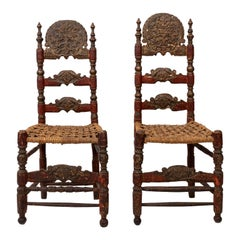 Pair of Early 18th Century Italian Chairs