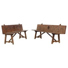 Pair of Early 18th Century Spanish Benches