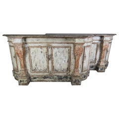 Pair of Early 19th Century Italian Tuscan Style Painted Sideboards