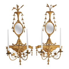 Pair of Early 19th Century Adam George III Giltwood Sconces