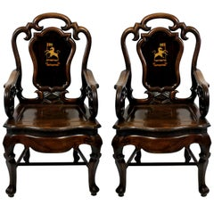 Pair of Early 19th Century Anglo-Chinese Armchairs