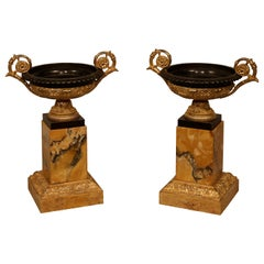 Pair of Early 19th Century Bronze and Ormolu Tazzas
