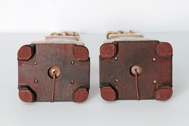 Pair of Early 19th Century Chinese Export Rose Mandarin Porcelain Jars as Lamps 12