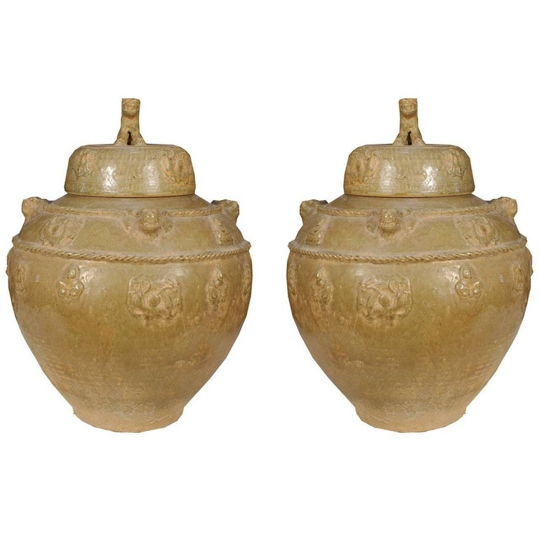 Pair of Early 19th Century Chinese Wine Vessels