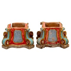 Pair of Early 19th Century Continental Capitals