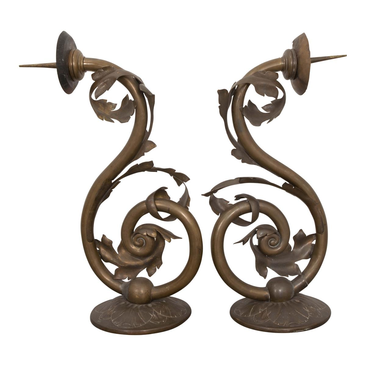 Pair of Early 19th Century Dutch Brass Wall Sconces