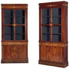 Pair of Early 19th Century Empire Period Mahogany Bookcases, Vienna, circa 1800