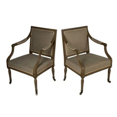Pair of Early 19th Century English Fauteuils