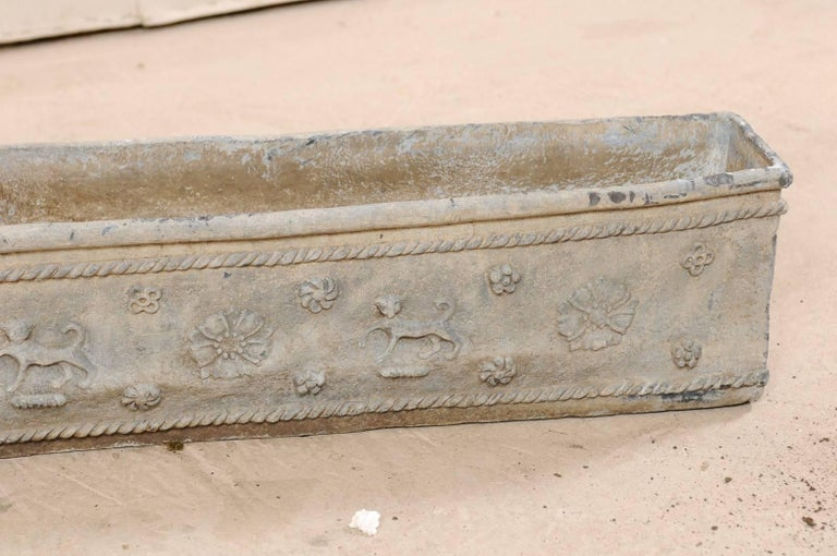 Pair of Early 19th Century English Floral Motif Planter Window Boxes For Sale 7