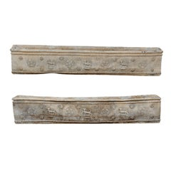 Pair of Early 19th Century English Floral Motif Planter Window Boxes