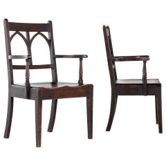 Pair of Early 19th Century English Oak Chairs