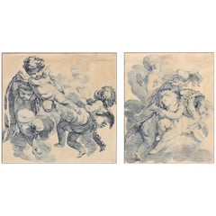 Pair of Early 19th Century Engravings of Cherubs