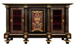 Pair of Early 19th Century French Boulle Cabinets