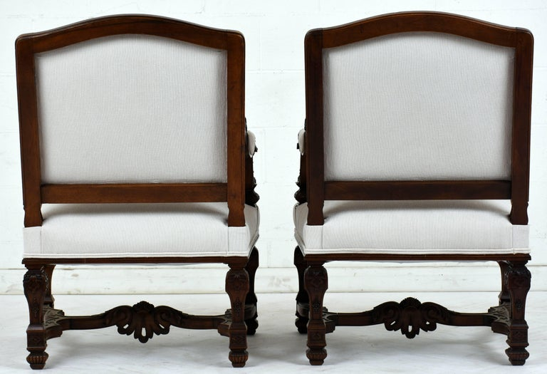 Pair of Early 19th Century French Louis XVI-Style Armchairs In Good Condition For Sale In Los Angeles, CA